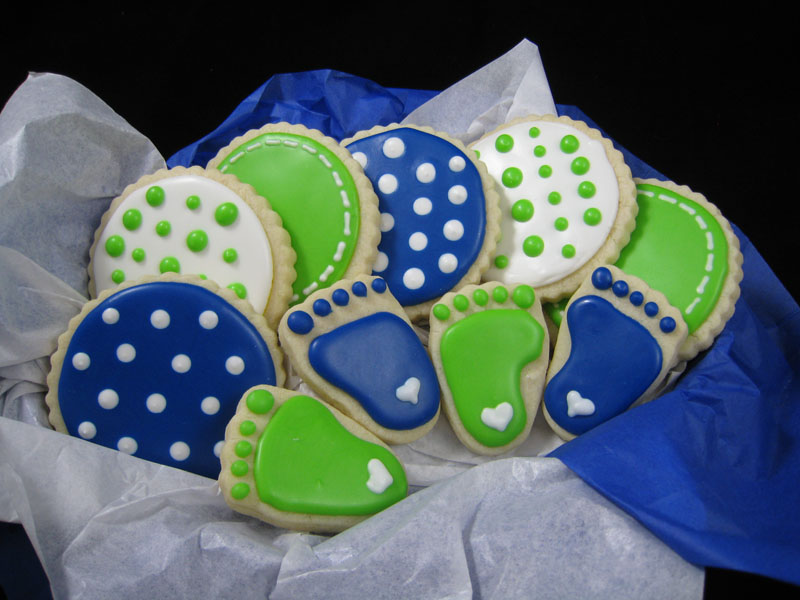 Baby shower - blue/green