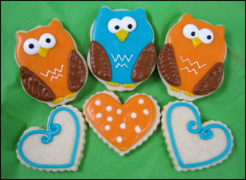 Teal and Orange owls