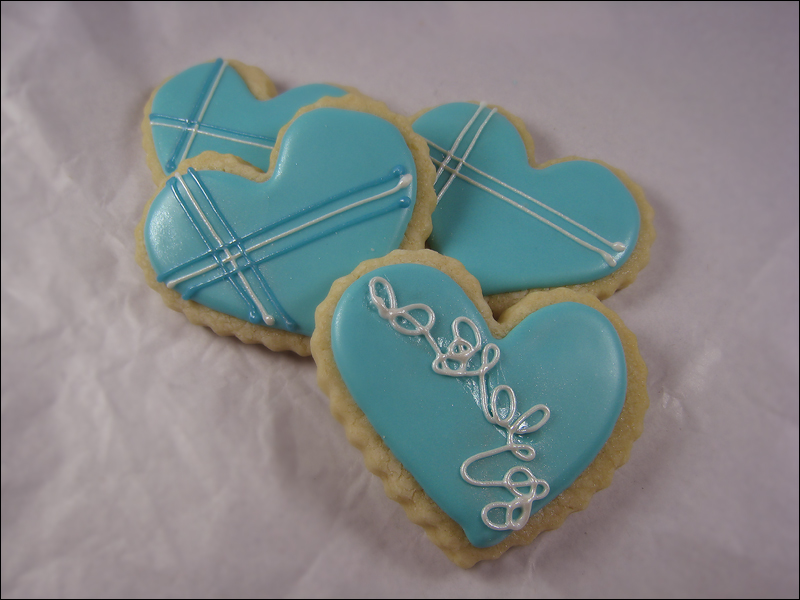 Blue & Hearts - two of my fave's!