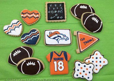 Broncos Cookies